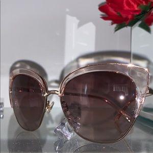 Kate Spade Pink Abinaya Cat Eye Sunglasses